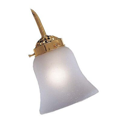 "Minka Aire 2.25"" Neck Etched Seedy Bell Glass Shade for Ceiling Fan Light Kit"