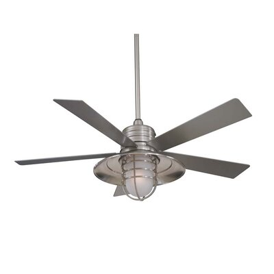 "Minka Aire 54"" RainMan 5 Blade Indoor / Outdoor Ceiling Fan"