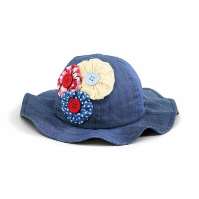 San Diego Hat Co Kids' Floppy Hat with Flowers