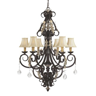 Bellasera Chandelier in Castlewood Walnut