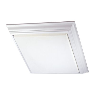 4 Light Square Flush Mount