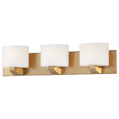 Modern craftsman bath 3 light bath vanity light wayfair for Modern craftsman lighting
