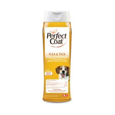 8 in 1 Pet Products Perfect Coat Flea and Tick Shampoo (16 oz.)