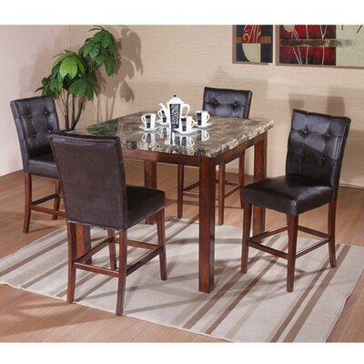 <strong>InRoom Designs</strong> 5 Piece Counter Height Dining Set