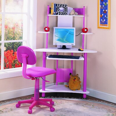 """InRoom Designs 39"""" W Computer Desk with Keyboard Tray"""