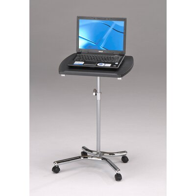 InRoom Designs Laptop Table Stand with Two Locking Wheel