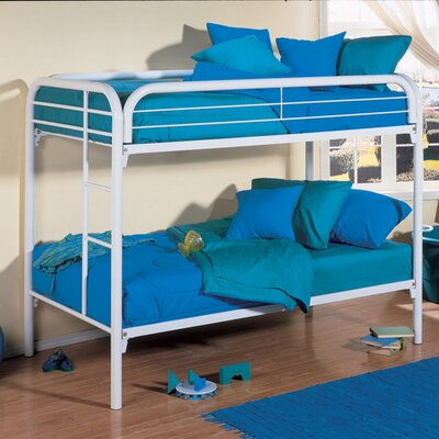 InRoom Designs Twin over Twin Bunk Bed with Built-In Ladder