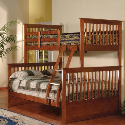 InRoom Designs Twin over Full Bunk Bed with Built-In Ladder