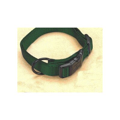 Adjustable Dog Collar in Hunter Green