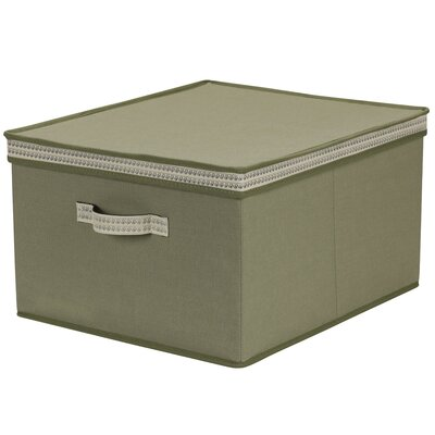 PET/Cotton Storage Box with Sonic Trim Wave