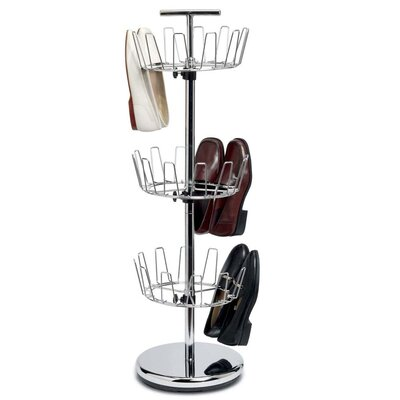 Household Essentials Storage and Organization 3 Tier Revolving Shoe Tree