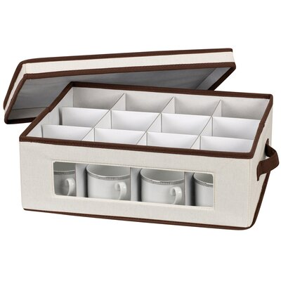 Household Essentials Storage and Organization Cup Chest Canvas with Trim