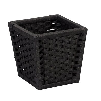 Household Essentials Paper Rope Waste Basket in Black