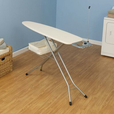 Household Essentials Four Leg Ironing Board with Solid Natural Cover