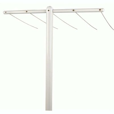 Household Essentials Steel T-Post Assembly  in White