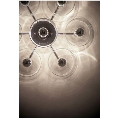 Oluce Fiore Seven Lights Wall / Ceiling Lamp