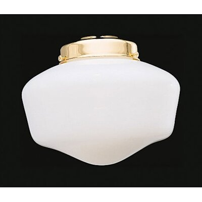"Casablanca Fan 4"" White Opal Schoolhouse Glass Shade"