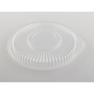 Genpak Plastic Microwave Safe Round Container Lid in Clear