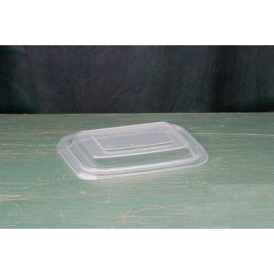Genpak Microwave Safe Rectangular Container Lid in Clear