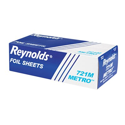 Reynolds Food Packaging Metro Pop-Up Aluminum Foil Sheets in Silver