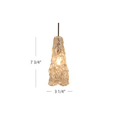 European 1 Light Ice Pendant with Canopy Mount