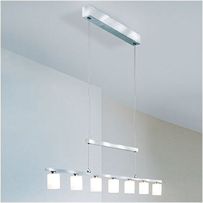 WAC Lighting Rectangular Adjustable 7 Light Kitchen Island Pendant