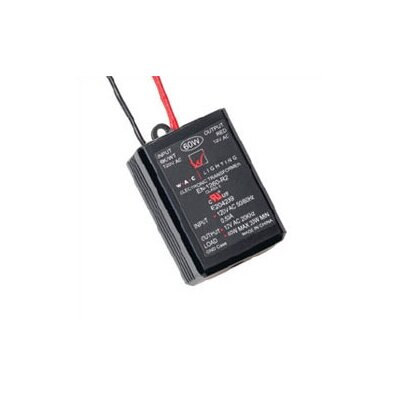 WAC Lighting 60W 12V Class II Remoted Electronic Transformer in Black