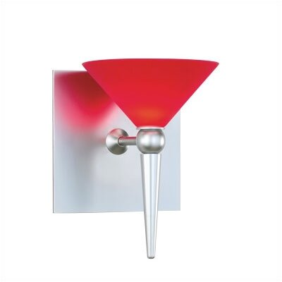 Cased Glass Cone Wall Sconce Shade in Red