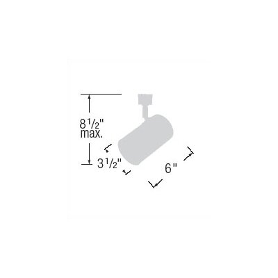WAC Lighting Flat Back Cylinder Luminaire Line Voltage Track Head