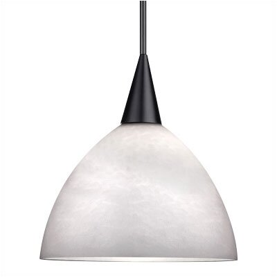 WAC Lighting Line Voltage Pendant Fritt Glass Shade in White
