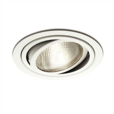 "WAC Lighting 5"" Line Voltage Adjustable Recessed Trim with Gimbal Ring in White"