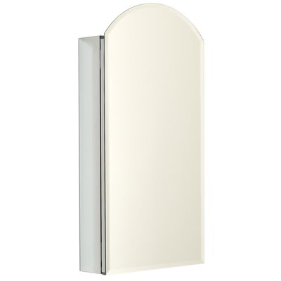Zenith Products 15 Inch Arch Top Reversible Medicine Cabinet with Beveled Mirror