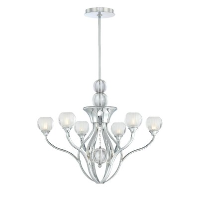 George Kovacs by Minka Curvy 6 Light Chandelier