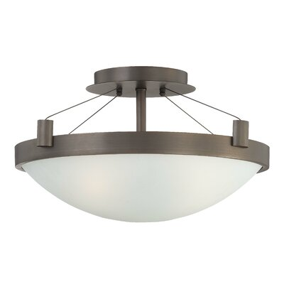 "George Kovacs by Minka 10.25"" 3 Light Semi Flush Mount"