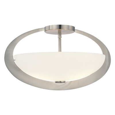 George Kovacs by Minka 2 Lights Semi Flush Mount