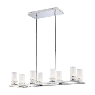 George Kovacs by Minka Rings 8 Light Kitchen Island Pendant