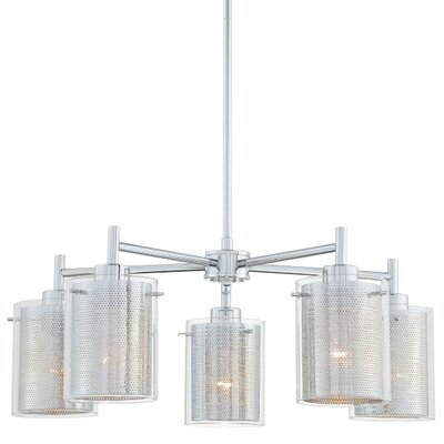 George Kovacs Grid II 5 Light Chandelier