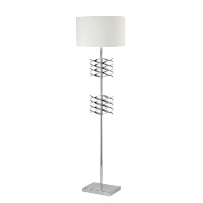 George Kovacs by Minka Lamps Floor Lamp with White Shade