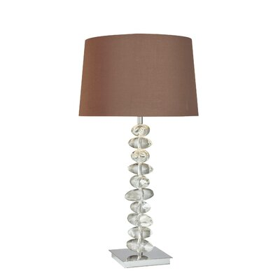 George Kovacs by Minka Lamps Table Lamp with Dark Chocolate Fabric Shade in Chrome