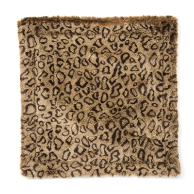 Posh Pelts Leopard Faux Fur Pillow Cover