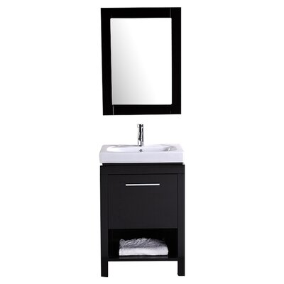 "Design Element New York 24"" Contemporary Bathroom Vanity Set"