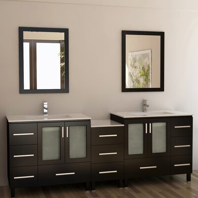 "Design Element Galatian 88"" Double Sink Bathroom Vanity Set"