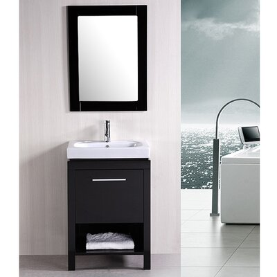 "<strong>Design Element</strong> New York 24"" Contemporary Bathroom Vanity Set"