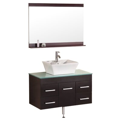 "Design Element Portland Madrid 36"" Single Sink Vanity Set"
