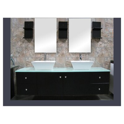 "<strong>Design Element</strong> Portland 61"" Double Sink Vanity Set"