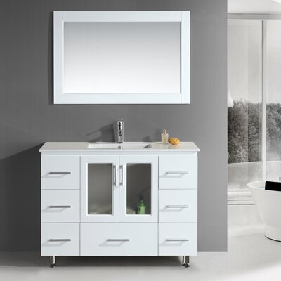 "Design Element Milan Stanton 48"" Modern Vanity Set"