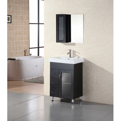 "Design Element Oslo 24"" Single Sink Vanity Set"
