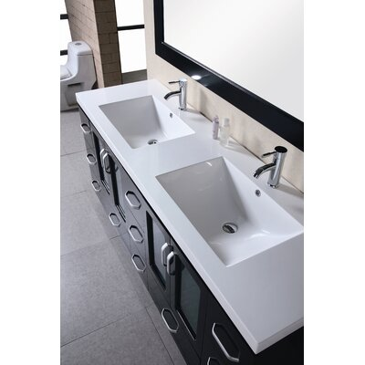 "Design Element Stanton 72"" Double Vanity Set"
