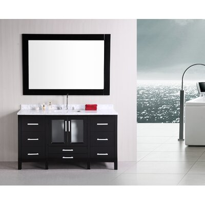 "Design Element Stanton 60"" Single Modern Bathroom Vanity Set"