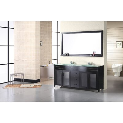 "Design Element Waterfall 61"" Double Sink Vanity Set"